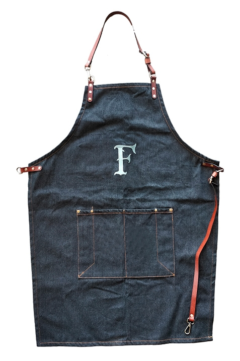 "Ferdinand's Barschürze ""F"" Denim Jeans mit Lederapplikation"