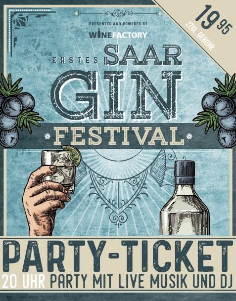 SAAR GIN FESTIVAL PARTY-TICKET // SA 14.10.17