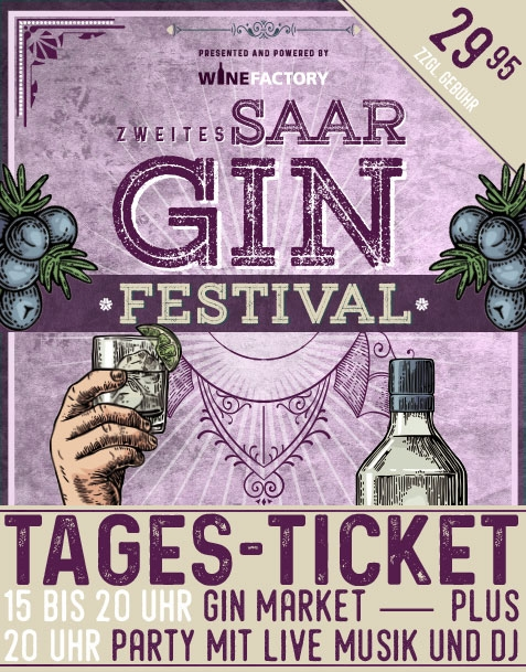 SAAR GIN FESTIVAL TAGES-TICKET // SA 28.04.18