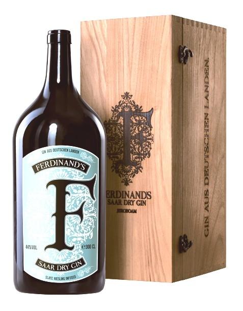 Ferdinand's Saar Dry Gin JEROBOAM in Holzkiste