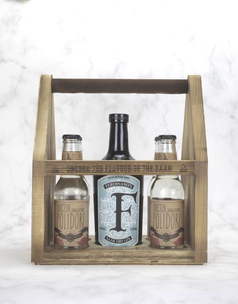 "Ferdinand's Werkzeugkiste ""L"" mit 4 Fl. Tonic Water (DR. POLIDORI Tonic)"