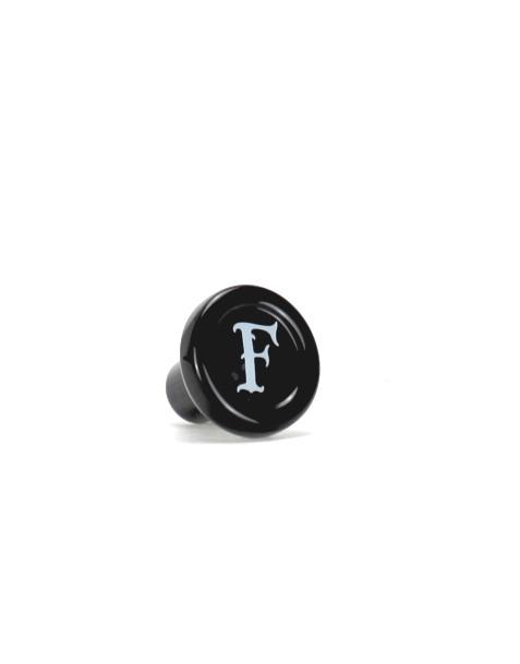 """Glaskorken Ferdinand's schwarz """"F"""""""