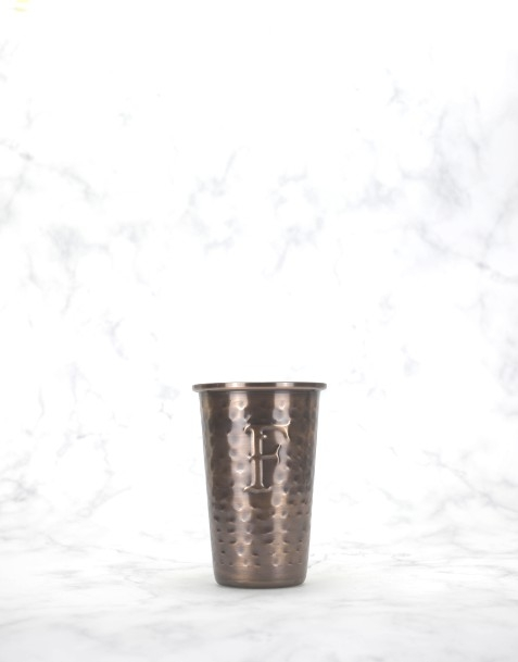 """Ferdinand's Coppercup / Kupferbecher """"F"""" Gin & Tonic Antique"""