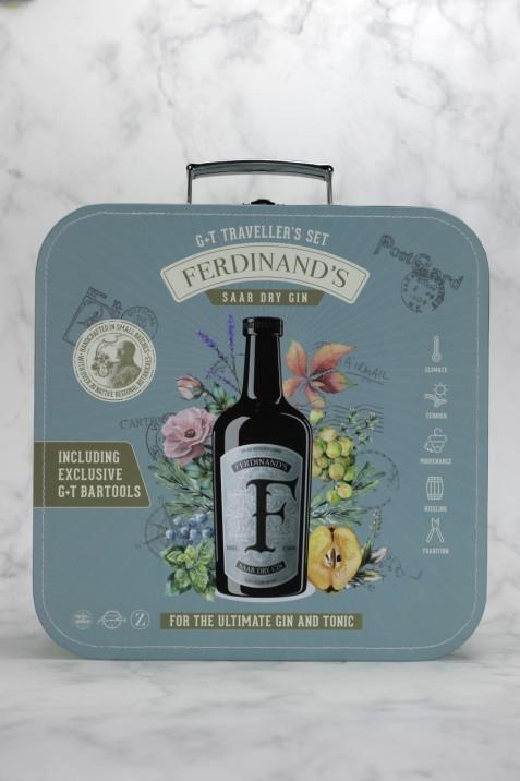 Ferdinand's Traveller's Set (1x Dry Gin 50cl + 1x Kupferbecher G&T + 1x Barlöffel + 1x Jigger + 1x Tonicwater)