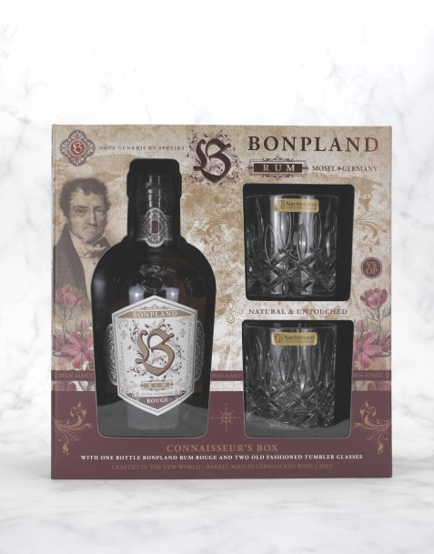 BONPLAND RUM Connoisseur's Box (1x Rouge 50cl 40% + 2xSOF Tumbler)