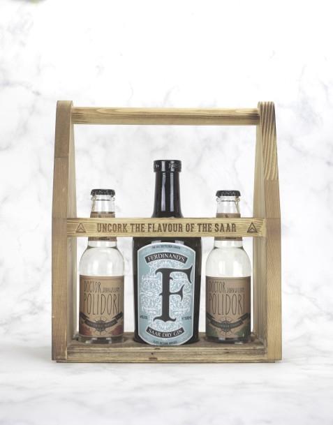 """Ferdinand's Werkzeugkiste """"S"""" mit 2 Fl. Tonic Water (DR. POLIDORI Tonic)"""